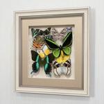Сборка с зелеными доминирующими бабочками, арт.: 92а-02